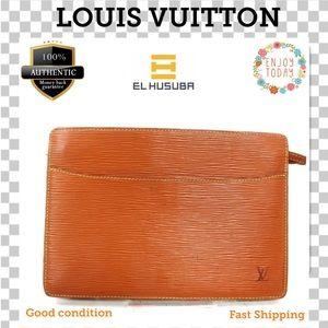 🌻💯Louis Vuitton Clutch Pochette Homme Brown epi